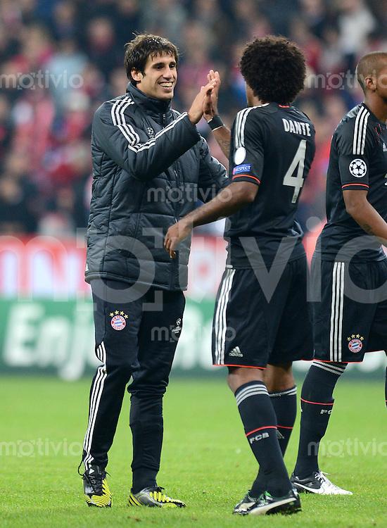 FUSSBALL   CHAMPIONS LEAGUE   SAISON 2012/2013   GRUPPENPHASE   FC Bayern Muenchen - FC Valencia                            19.09.2012 Javi , Javier Martinez und Dante (v. li., FC Bayern Muenchen)