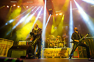 Judas Priest performs as the band kicked off their 50th anniversary tour Sept. 8, 2021, at Santander Arena in Reading, Pennsylvania.