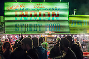 Late night food. The 2015 Glastonbury Festival, Worthy Farm, Glastonbury.