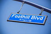 Foothill Blvd Street Sign