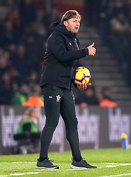 Southampton manager Ralph Hasenhuttl gestures on the touchline during the Premier League match at St Mary's, Southampton.