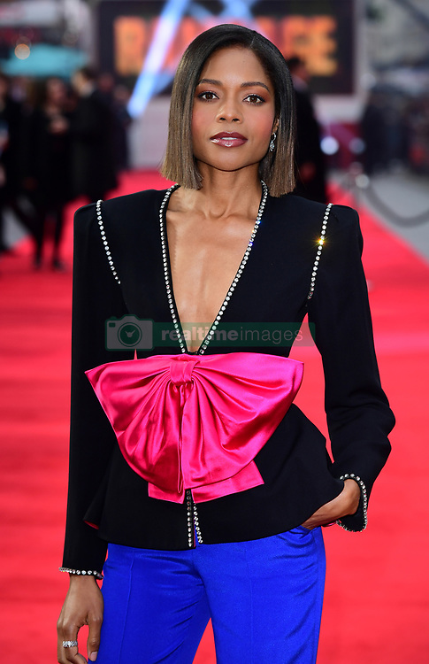 Naomie Harris attending the European premiere of Rampage, held at the Cineworld in Leicester Square, London. Picture date: Wednesday April 11, 2018. See PA story SHOWBIZ Rampage. Photo credit should read: Ian West/PA Wire
