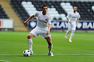 Swansea city's Angel Rangel. Pre-season friendly match, Swansea city v Blackpool at the Liberty Stadium in Swansea, South Wales on Tuesday 7th August 2012. pic by Andrew Orchard, Andrew Orchard sports photography,