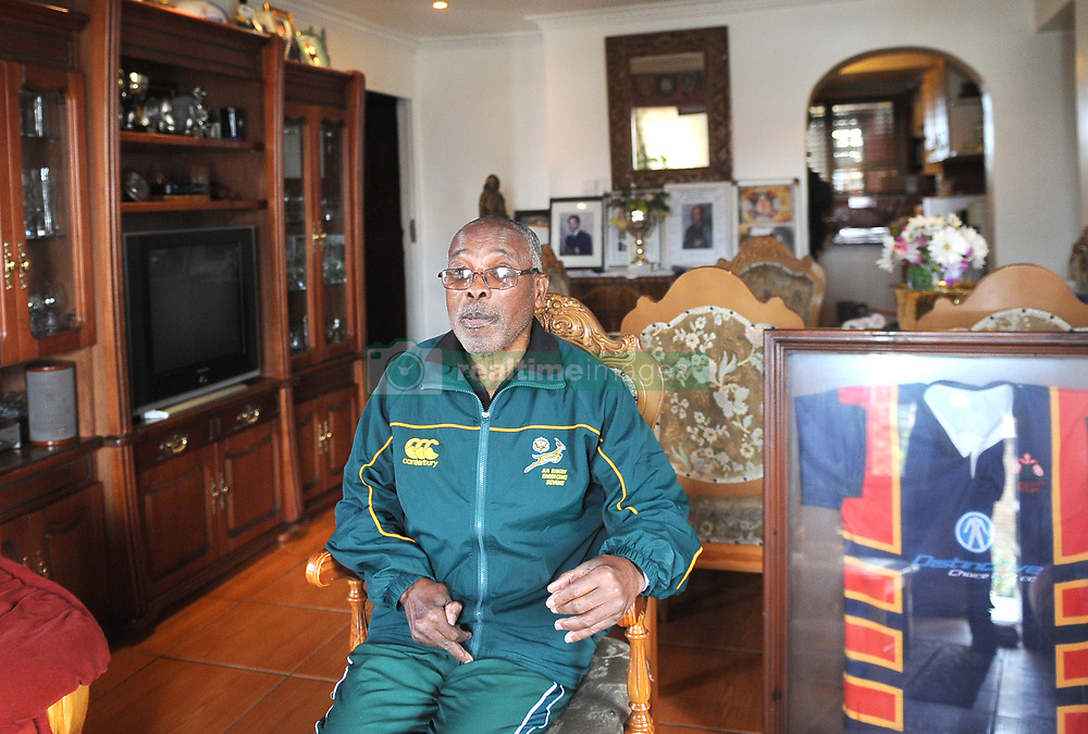 Cape Town- 180731 Norman 'Nhonho' Mbiko in his house in Nyanga East. Norman 'Nhonho' Mbiko At the height of Apartheid Mbiko was chosen as the captain of the Black Springbok team Although born in Kraaifontein in 1945, the notorious Group Areas Act saw his family being forcibly moved to Nyanga East As a student at Langa High School, Mbiko soon made his mark on the rugby field and became popular as a scrum-half He played for the Black Western Province Rugby Union from the age of 19 until his retirement form the sport in 1979 Picture Ayanda Ndamane/ African News Agency (ANA)