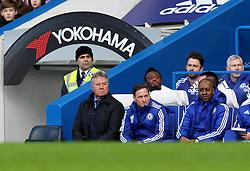 Chelsea's Interim Manager Guss Hiddink - Mandatory byline: Robbie Stephenson/JMP - 10/01/2016 - FOOTBALL - Stamford Bridge - London, England - Chelsea v Scunthrope United - FA Cup Third Round