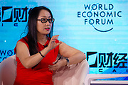 Yang Yanqing, Deputy Editor-in-Chief, Yicai Media Group, People's Republic of China during the session: China's Financial Opening at the World Economic Forum - Annual Meeting of the New Champions in Tianjin, People's Republic of China 2018.Copyright by World Economic Forum / Greg Beadle