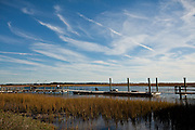 Marsh along the Folly River, Charleston, SC.