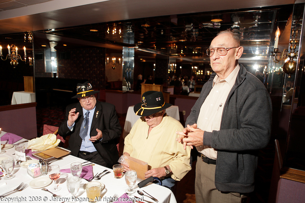 Left to right, Fletcher Beard, Ed Arthur and Loel Ewart during the Gathering of Warriors reunion attended by Vietnam War Veterans of the 1st Squadron, 9th Cavalry, 1st Cavalry Divison.