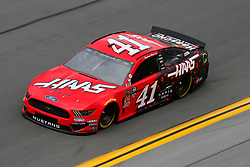 February 9, 2019 - Daytona, FL, U.S. - DAYTONA, FL - FEBRUARY 09: Daniel Suarez, driver of the #41 Stewart-Haas Racing Haas Automation Ford Mustang, during Daytona 500 practice on February 9, 2019 at Daytona International Speedway in Daytona Beach, Fl. (Photo by David Rosenblum/Icon Sportswire) (Credit Image: © David Rosenblum/Icon SMI via ZUMA Press)