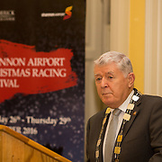 08.12.2016                   <br /> Pictured at the launch of the Shannon Airport Christmas Racing Festival at Hunt Museum was Mayor of the Metropolitan District of Limerick Cllr. Michael Hourigan. Picture: Alan Place