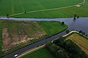 Nederland, Overijssel, Steenwijk, 30-06-2011; Kanaal Steenwijk-Ossenzijl, Steenwijker Diep (under).Canal near Steenwijk..luchtfoto (toeslag), aerial photo (additional fee required).copyright foto/photo Siebe Swart