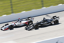 July 8, 2018 - Newton, Iowa, United States of America - ED CARPENTER (20) of England battles for position during the Iowa Corn 300 at Iowa Speedway in Newton, Iowa. (Credit Image: © Justin R. Noe Asp Inc/ASP via ZUMA Wire)