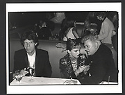 Mick Jagger, Madonna & Tony Curtis at the Vanity Fair Oscar Night Party. Mortons. Los Angeles. 24 March 1997Exhibition in a Box
