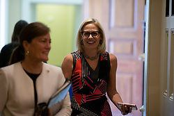 United States Senator-elect Kyrsten Sinema (Democrat of Arizona) leaves a Democratic caucus meeting on Capitol Hill in Washington, DC on November 14, 2018. Credit: Alex Edelman / CNP. 14 Nov 2018 Pictured: United States Senator-elect Kyrsten Sinema (Democrat of Arizona) leaves a Democratic caucus meeting on Capitol Hill in Washington, DC on November 14, 2018. Credit: Alex Edelman / CNP. Photo credit: Alex Edelman - CNP / MEGA TheMegaAgency.com +1 888 505 6342