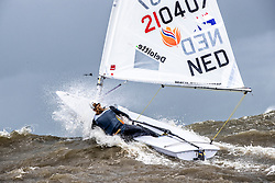 Marit Bouwmeester training in Scheveningen. Marit will represent the Netherlands in the Laser Radial class during 2020 Summer Olympics. Saturday, 8 June 2019.