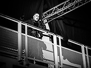 Matthías Haraldsson of Icelandic techno and industrial band Hatari at Iceland Airwaves