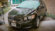 Senior Joshua Baffoe won a car at the Sharpstown High School Academic Signing Day, thanks to Joel Rogers Classic Chevrolet.