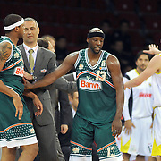 Banvit's Keith SIMMONS (C) during their Turkish Basketball league semi final second leg match Fenerbahce Ulker between Banvit at Abdi Ipekci Arena in Istanbul, Turkey, Wednesday, May 12, 2010. Photo by TURKPIX