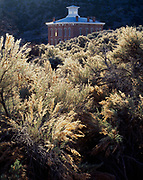 Abandoned Nye County Courthouse, built in 1876 and used for ten years, silver mining ghost town of Belmont in the Toquima Range, Belmont Courthouse State Monument, Nevada.