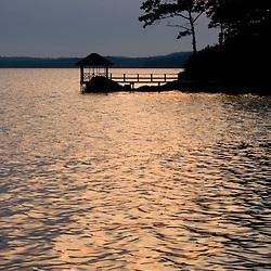 Sunset on the shores of Eggemoggin Reach in Brooksville, Maine.  Oakland Hosue.