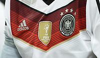Fotball<br /> Tyskland v Argentina<br /> Privatlandskamp<br /> 03.09.2014<br /> Foto: Witters/Digitalsport<br /> NORWAY ONLY<br /> <br /> Feature, Nationaltrikot, 4-Sterne-Trikot, vier Sterne, Abzeichen amtierender Weltmeister<br /> Fussball, Testspiel, Deutschland - Argentinien 2:4