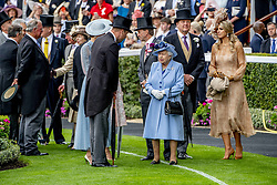 Queen Elizabeth II, King Willem Alexander and Queen Maxima of the Netherlands, Duke and Duchess of Cambridge, Prince Charles attending the Royal Ascot, during day one of the at Ascot Racecourse in Ascot, UK, on Tuesday June 18, 2019. Photo by Robin Utrecht/ABACAPRESS.COM