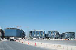 Construction site at new Dubai Design District (d3) in Dubai United Arab Emirates
