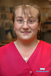 Portrait of agency nurse on Haematology Ward,