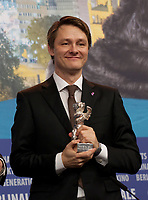 Rasmus Videbaek, winner of the Silver Bear for an Outstanding Artistic Contribution in the categories camera for Out Stealing Horses at the award winners press conference at the 69th Berlinale International Film Festival, on Saturday 16th February 2019, Hotel Grand Hyatt, Berlin, Germany.