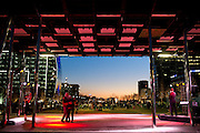 Visitors spend Valentines Day enjoying the weather and dancing to music performed by Max Vontaine at Klyde Warren Park on Thursday, February 14, 2013 in Dallas, Texas. (Cooper Neill/The Dallas Morning News)
