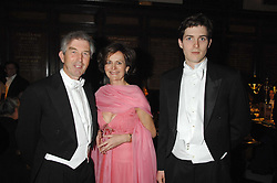 The DUKE & DUCHESS OF SOMERSET and their son LORD SEYMOURat the 2008 Berkeley Dress Show at the Royal Hospital Chelsea, London on 3rd April 2008.<br />