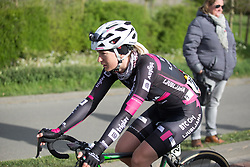 Anna Zita Maria Stricker (CRO) of BTC City Ljubljsana Cycling Team cools down after the finish of the Omloop van Borsele - a 107.1 km road race, starting and finishing in s'-Heerenhoek on April 22, 2017, in Borsele, the Netherlands.