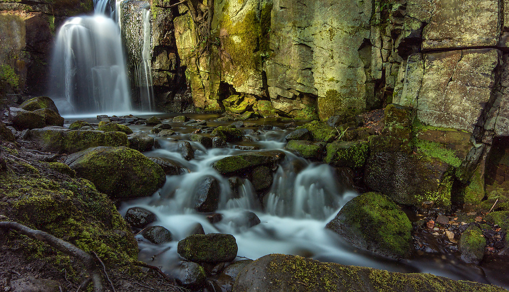 Lumsdale Falls in the Peak District, Derbyshire.