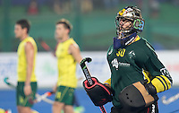 RAIPUR (India) .  goalie Andrew Charter (Aus) played his 100th cap .Hockey Wold League Final  men . AUSTRALIA v GREAT BRITTAIN.   © Koen Suyk/Treebypictures