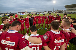 September 22, 2018 - Galway, Ireland - Scarlets players pictured during the Guinness PRO14 match between Connacht Rugby and Scarlets at the Sportsground in Galway, Ireland on September 22, 2018  (Credit Image: © Andrew Surma/NurPhoto/ZUMA Press)