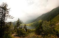 Golzern, Switzerland - vista of lake and mountains.