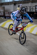 #61 (VEENSTRA Manon) NED during practice at the 2019 UCI BMX Supercross World Cup in Manchester, Great Britain