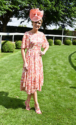 Charlotte Hawkins at The Investec Derby, Epsom Racecourse, Epsom, Surrey, England. 02 June 2018.