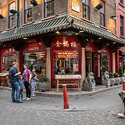 Lotus Garden in London Chinatown Sweet Tooth Cafe and Restaurant at Newport Court and Garret Street on 15 June 2019, UK.