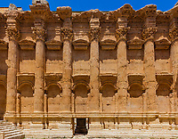 Temple of Bacchus romans ruins of  Baalbek in Beeka valley Lebanon Middle east