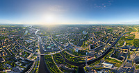 Aerial view of Kaliningrad cityscape, Russia