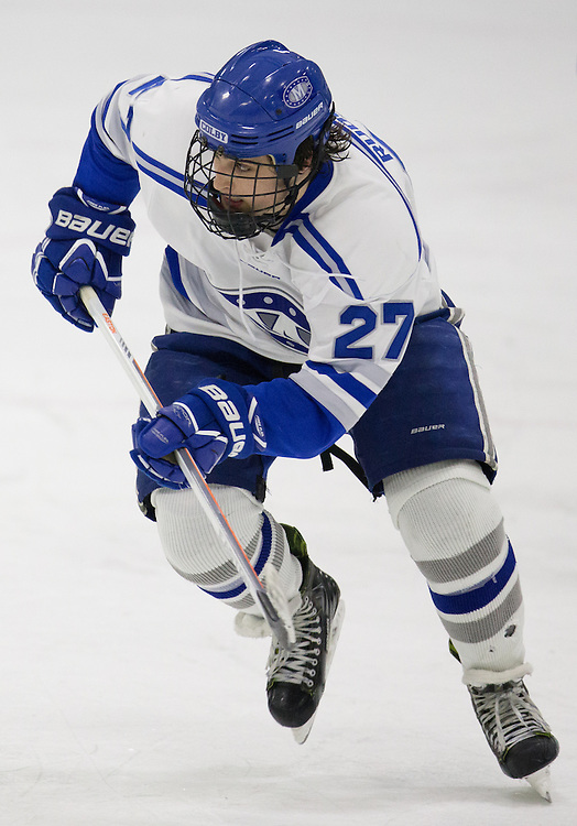 Michael Rudolf, of Colby College, in a NCAA Division III hockey game against Tufts University on February 20, 2015 in Waterville, ME. (Dustin Satloff/Colby College Athletics)