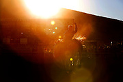 Ty Breuer rides Dry Crop for a score of 79.5 in bareback riding during the  second night of the Cody Stampede at Stampede Park in Cody, Wyoming on Monday, July 2, 2018. The Cody Stampede is the highest paying rodeo in the country over Cowboy Christmas, also known as the Fourth of July.(Rebecca Noble/Cody Enterprise)