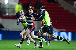 Jack Tovey of Bristol Rugby makes a break  - Mandatory by-line: Alex Davidson/JMP - 08/12/2017 - RUGBY - Ashton Gate Stadium - Bristol, England - Bristol Rugby v Leinster 'A' - B&I Cup