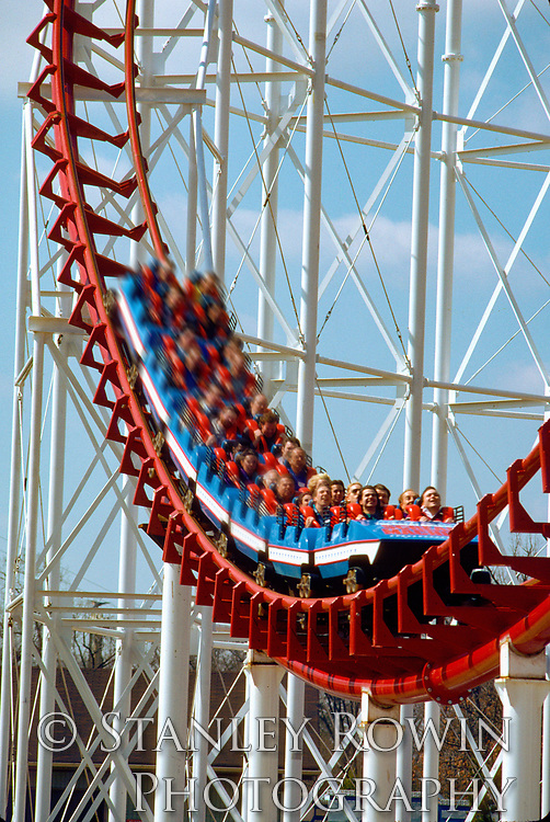 Roller Coaster with motion blur added