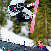 Norwegian National Snowboard Team member Fredrik Austbo competes during qualifying at the 2009 LG Snowboard FIS World Cup at Cypress Mountain, British Columbia, on February 16th, 2009. Austbo finished 32nd in a field of 70.