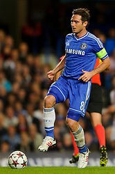 Chelsea Midfielder Frank Lampard (ENG) in action during the second half of the match - Photo mandatory by-line: Rogan Thomson/JMP - Tel: 07966 386802 - 18/09/2013 - SPORT - FOOTBALL - Stamford Bridge, London - Chelsea v FC Basel - UEFA Champions League Group E