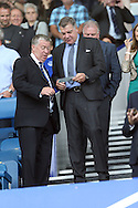 England Manager Sam Allardyce checks his ticket and asks directions to his seat in the stands ahead of k/o. Premier league match, Everton v Stoke city at Goodison Park in Liverpool, Merseyside on Saturday 27th August 2016.<br /> pic by Chris Stading, Andrew Orchard sports photography.