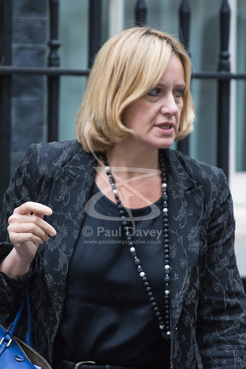 Downing Street, London, September 15th 2015.  Secretary of State for Energy and Climate Change Amber Rudd leaves 10 Downing Street after attending the weekly cabinet meeting