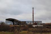 Deindustrialisation closed factory heavy industry, Shishmantsi, Plovdiv province, Bulgaria, eastern Europe